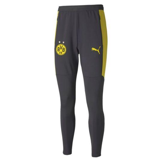 PUMA Borussia Dortmund Trainingsbroek 2020-2021 Asfalt Geel