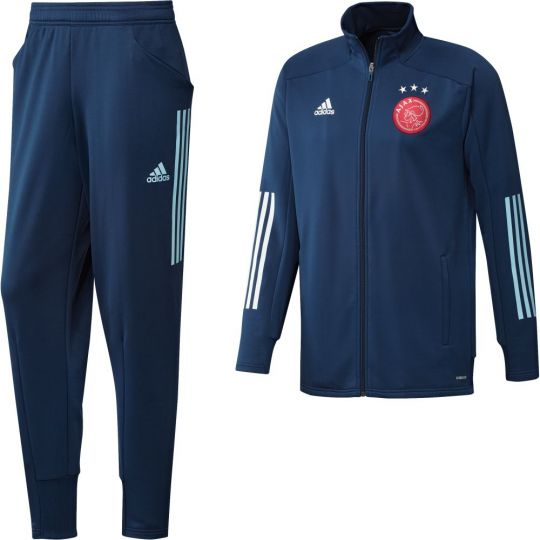 adidas Ajax Trainingspak 2020-2021 Blauw