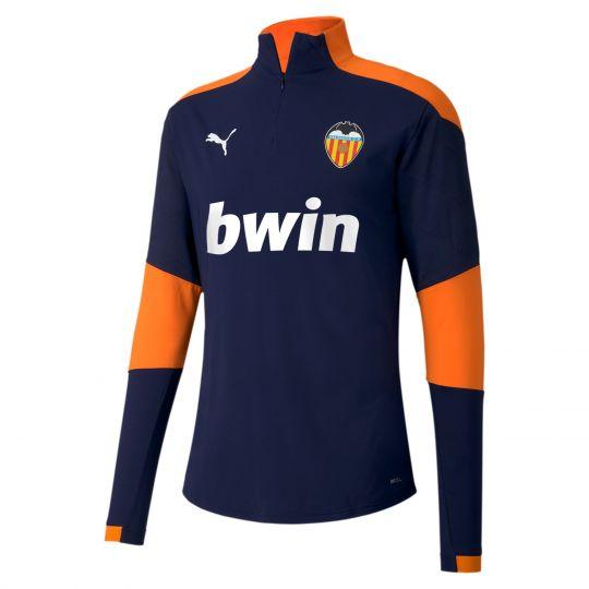 PUMA Valencia CF 1/4 Zip Trainingstrui 2020-2021 Donkerblauw Oranje