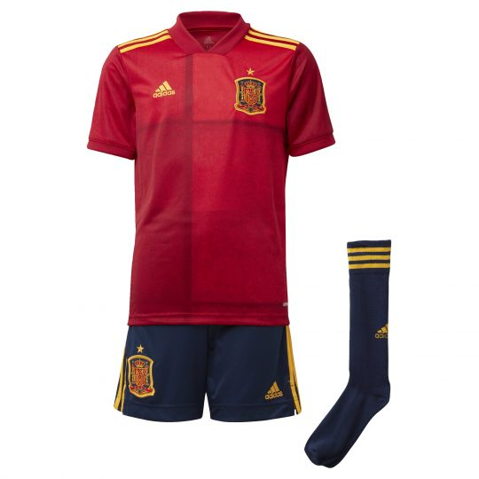 adidas Spanje Kids Thuistenue 2020-2021 Rood Blauw Geel