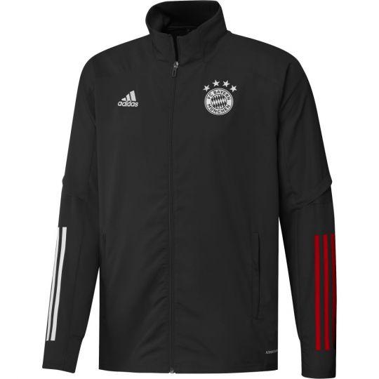 adidas Bayern Munchen Presentatie Trainingsjack 2020-2021 Zwart Rood