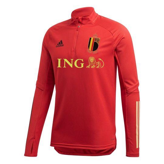 adidas Belgie Trainingstrui 2020-2021 Rood