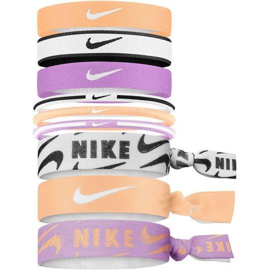 Nike Haar elastiekjes 9 Stuks Paars Oranje Wit Zwart