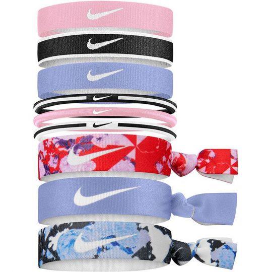 Nike Haar elastiekjes 9 Stuks Roze Blauw Zwart