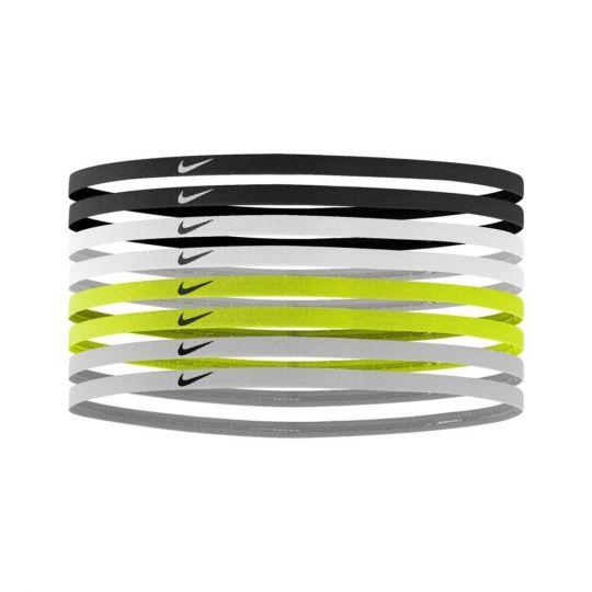 Nike SKINNY Haarbanden 8 pack Zwart Wit Geel Grijs