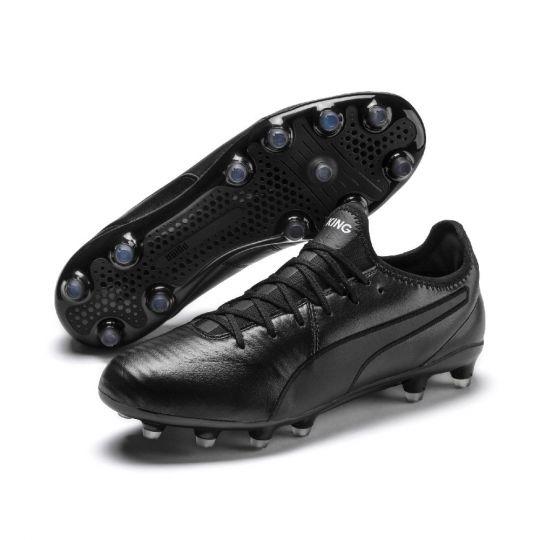 PUMA KING Pro Gras Voetbalschoenen (FG) Zwart Wit