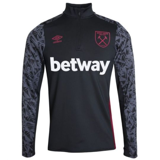 UMBRO West Ham United Trainingstrui HZ 2020-2021 Zwart