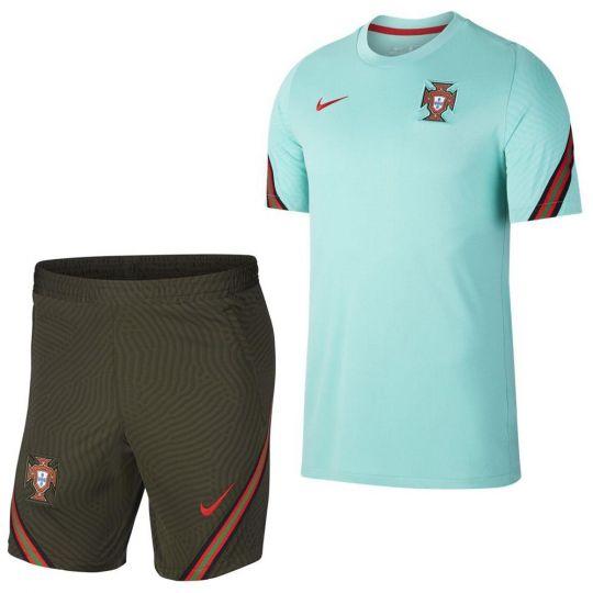 Nike Portugal Dry Strike Trainingsset 2020-2022 Turqouise Groen