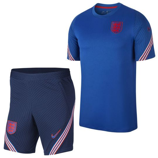 Nike Engeland Dry Strike Trainingsset 2020-2022 Blauw