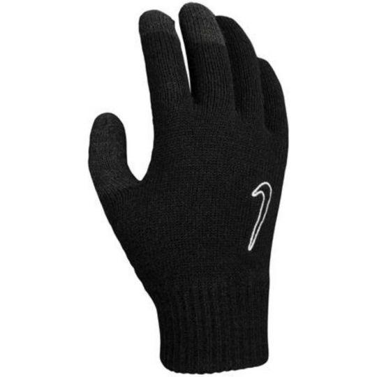 Nike Knitted Tech Grip Handschoenen Zwart Swoosh Wit