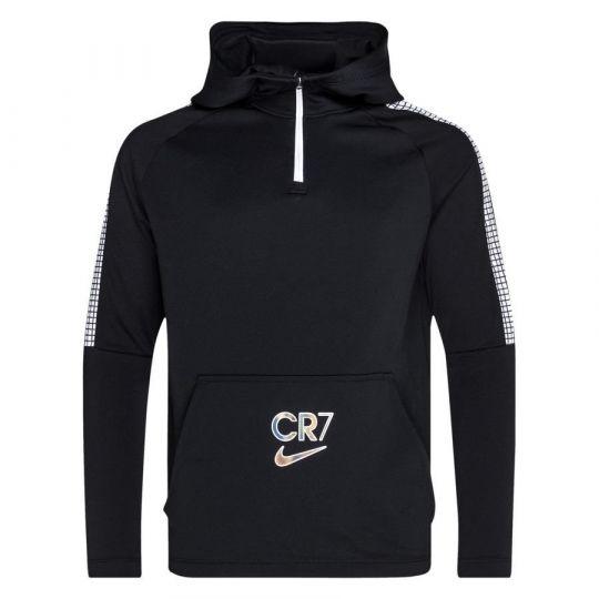 Nike CR7 Dry Trainingstrui Hoodie Kids Zwart Wit