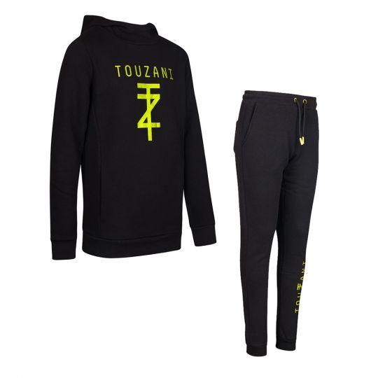 Touzani Jogging Trainingspak Kids Zwart Neon Geel