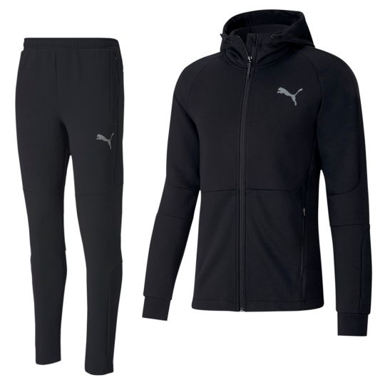 PUMA evoSTRIPE Full-Zip Trainingspak Zwart