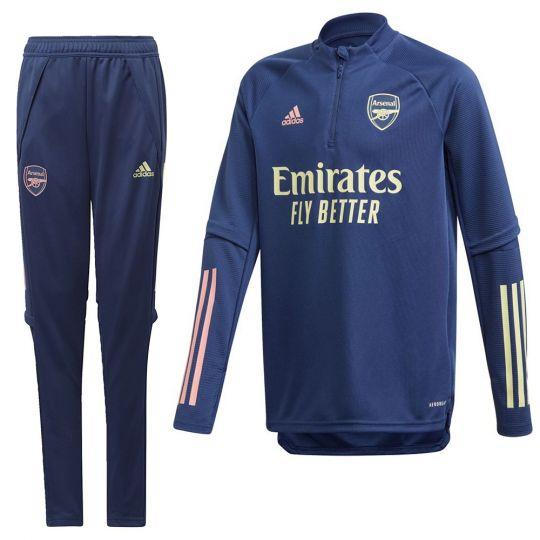 adidas Arsenal Trainingspak 2020-2021 Kids Blauw Geel Roze