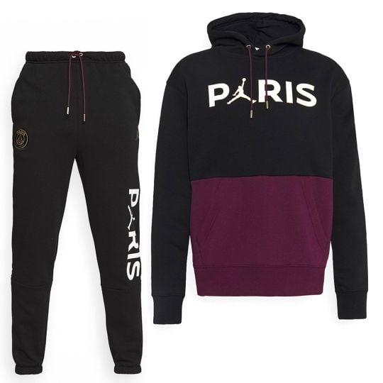 Nike Paris Saint Germain X Jordan Trainingspak Zwart Bordeauxrood Goud