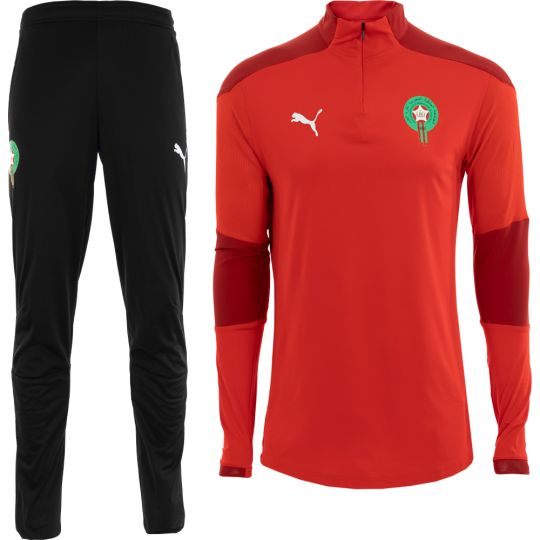 PUMA Marokko Zip Trainingspak 2020-2021 Rood Zwart