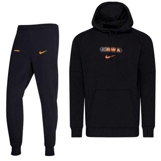 Nike AS Roma GFA Fleece Trainingspak CL 2020-2021 Zwart