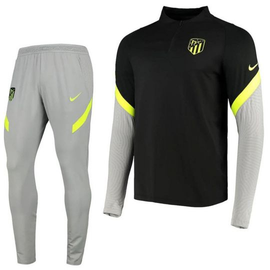 Nike Atletico Madrid Trainingspak CL 2020-2021 Grijs Zwart Volt