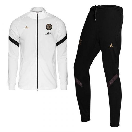 Nike Paris Saint Germain Dry Strike Trainingspak CL 2020-2021 Kids Wit Zwart