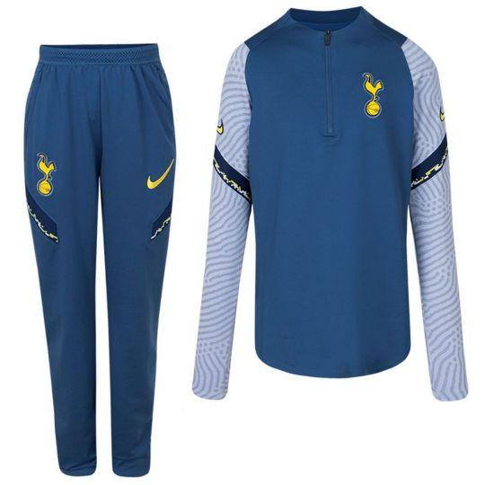 Nike Tottenham Hotspur Strike Drill Trainingspak 2020-2021 CL Kids Blauw