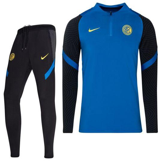 Nike Inter Milan Strike Drill Trainingspak 2020-2021 Blauw Zwart