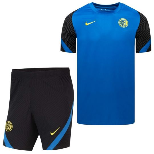 Nike Inter Milan Strike Trainingsset 2020-2021 Blauw Zwart