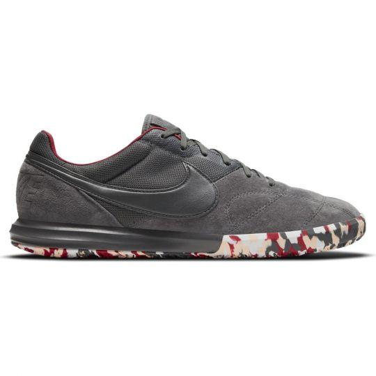 Nike Premier II Sala Zaalvoetbalschoenen (IC) Donkergrijs Wit Rood