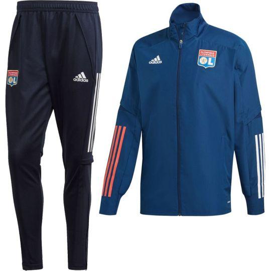 adidas Olympique Lyon Presentatie Trainingspak 2020-2021 Blauw