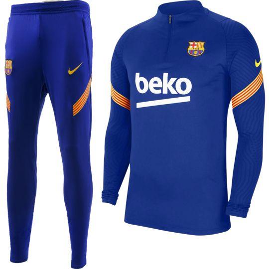Nike FC Barcelona Dry Strike Trainingspak 2020-2021 Donkerblauw Geel