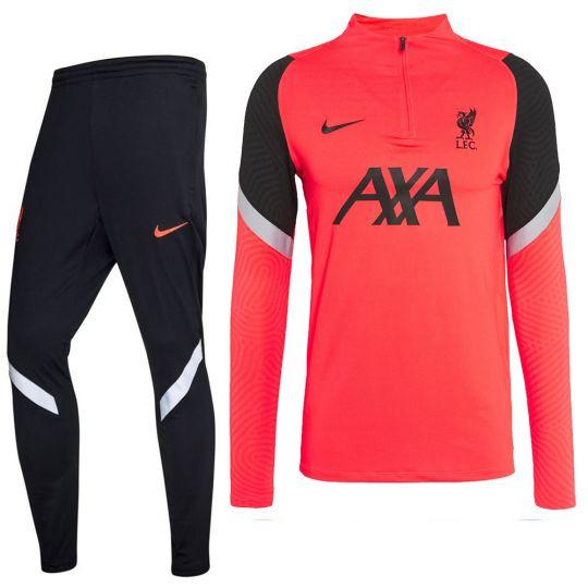 Nike Liverpool Strike Trainingspak CL 2020-2021 Rood Zwart