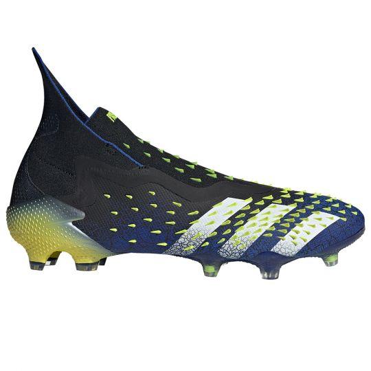 adidas Predator Freak+ Gras Voetbalschoenen (FG) Zwart Blauw Geel