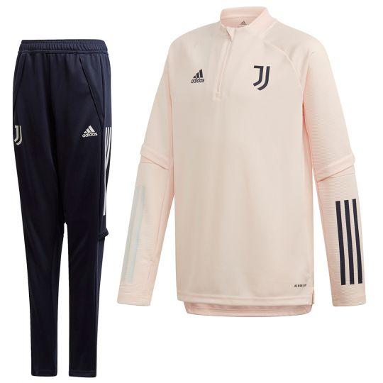adidas Juventus Top Trainingspak 2020-2021 Kids Roze Donkerblauw