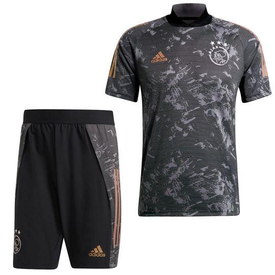 adidas Ajax Europees Trainingsset 2020-2021 Zwart Goud