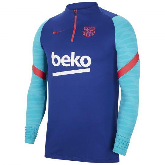 Nike FC Barcelona Strike Trainingstrui 2021 Kids Blauw Rood