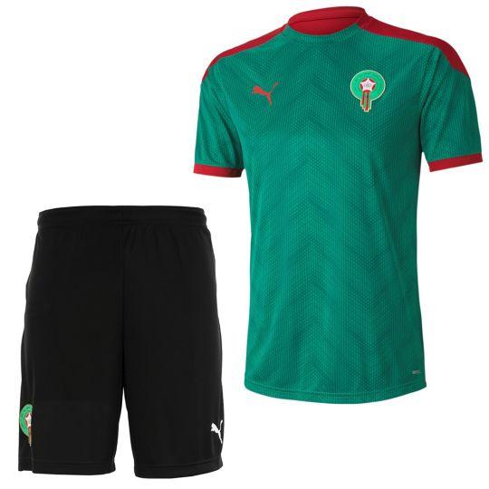 PUMA Marokko Stadium Trainingsset 2020-2021 Groen Zwart