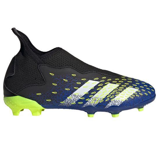 adidas Predator Freak.3 LL Gras Voetbalschoenen (FG) Kids Zwart Wit Geel