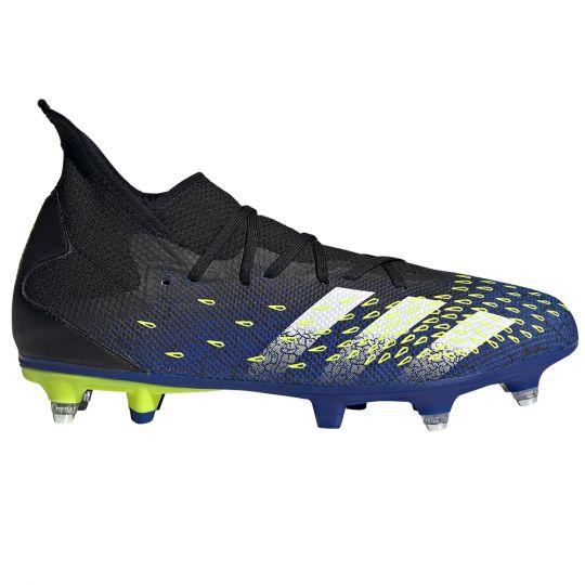 adidas Predator Freak.3 Ijzeren-Nop Voetbalschoenen (SG) Zwart Wit Geel