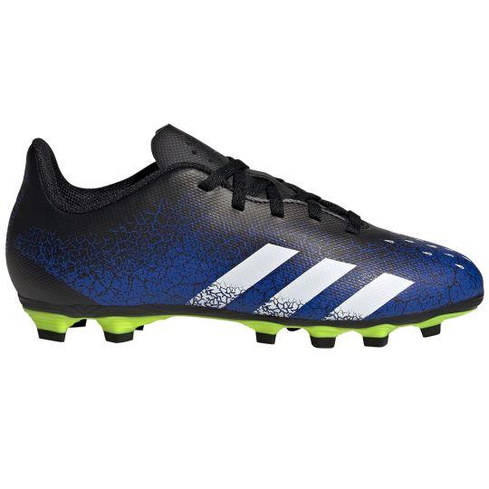 adidas Predator Freak.4 Gras / Kunstgras Voetbalschoenen (FxG) Kids Blauw Wit Zwart