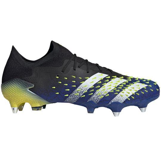 adidas Predator Freak.1 Low Ijzeren-Nop Voetbalschoenen (SG) Zwart Wit Geel