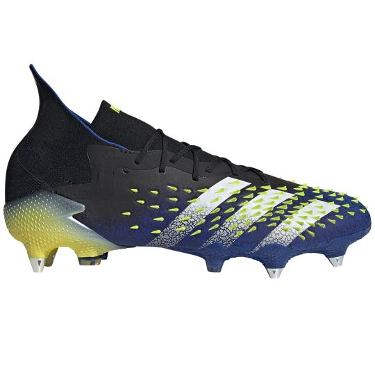 adidas Predator Freak.1 Ijzeren-Nop Voetbalschoenen (SG) Zwart Wit Geel
