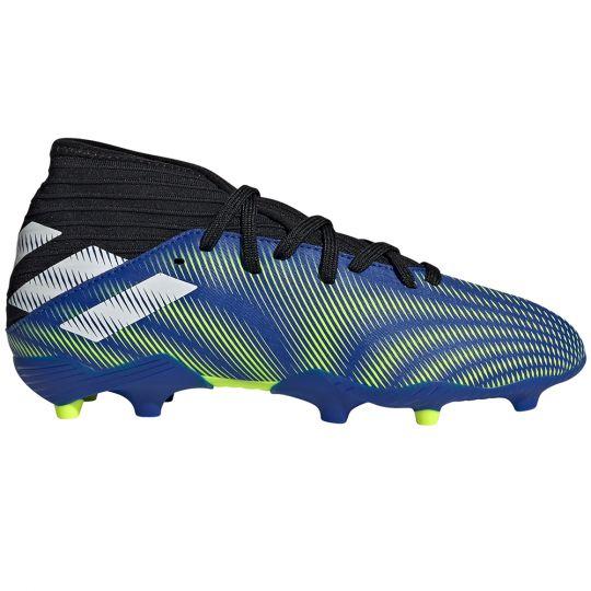 adidas Nemeziz.3 Gras Voetbalschoenen (FG) Kids Blauw Wit Geel