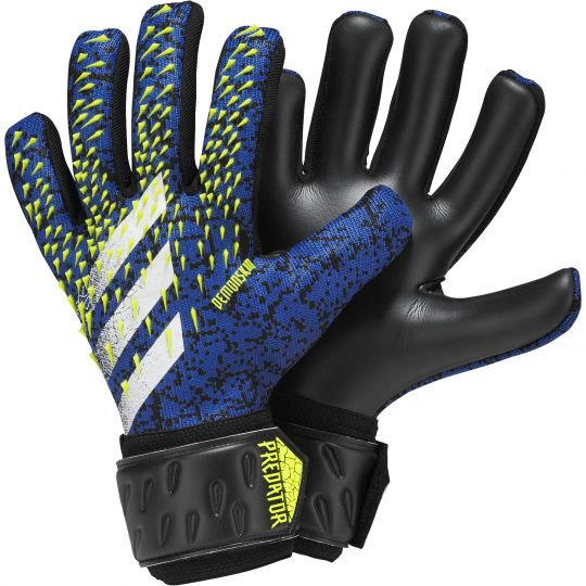 adidas Predator League Keepershandschoenen Zwart Blauw Geel