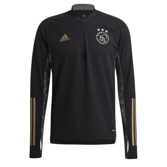 adidas Ajax Trainingstrui Europees 2020-2021 Zwart Goud