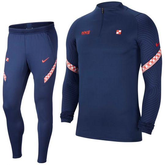 Nike Kroatie Strike Drill Trainingspak 2020-2022 Donkerblauw