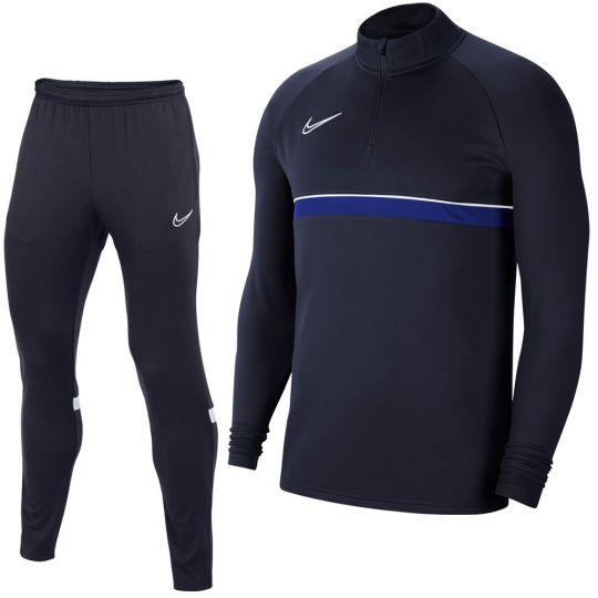 Nike Academy 21 Drill Trainingspak Donkerblauw Wit