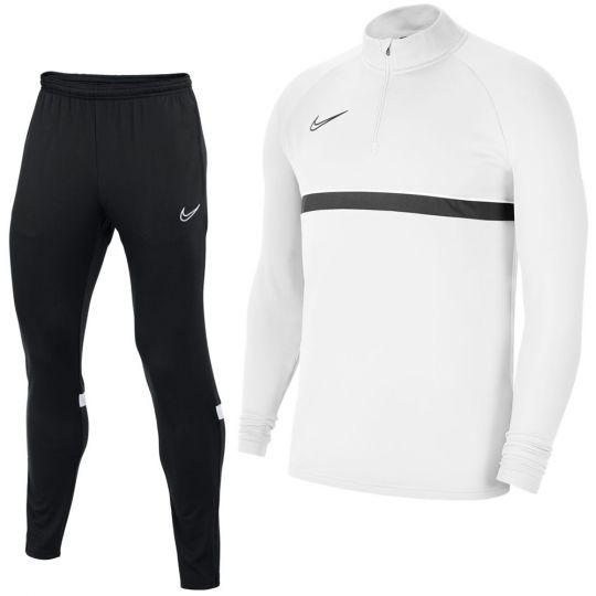 Nike Academy 21 Drill Trainingspak Kids Wit Zwart