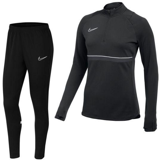 Nike Academy 21 Drill Trainingspak Vrouwen Zwart Grijs Wit