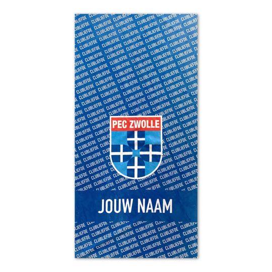 PEC Zwolle Clubliefde Handdoek Gepersonaliseerd