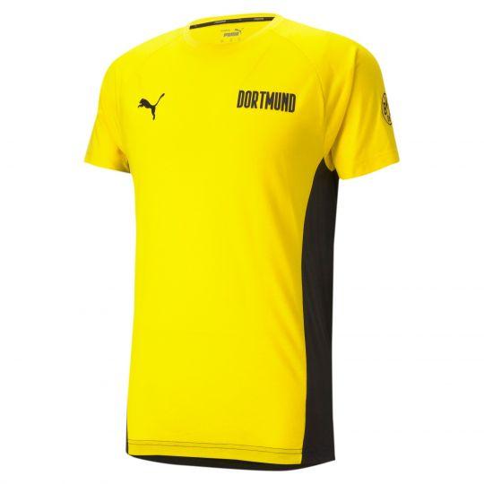 PUMA Borussia Dortmund Evostripe T-Shirt 2021 Geel Zwart