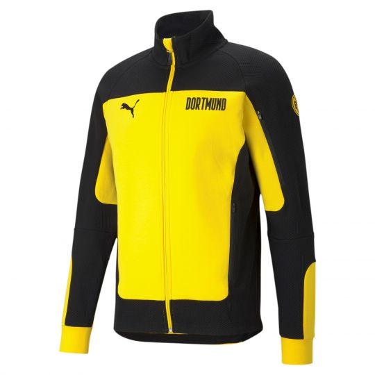 PUMA Borussia Dortmund Evostripe Trainingsjack 2021 Geel Zwart